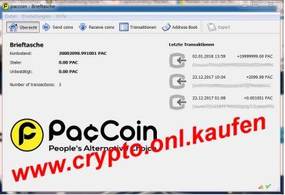 crypto.onl.kaufen PacCoin Kaufen Pac Coin Verkaufen Wallet