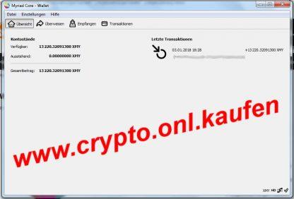 www.crypto.onl.kaufen Myriad XMY Coin Myriadcoin kaufen verkaufen