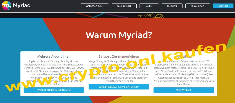 www.crypto.onl.kaufen Myriad XMY Coin