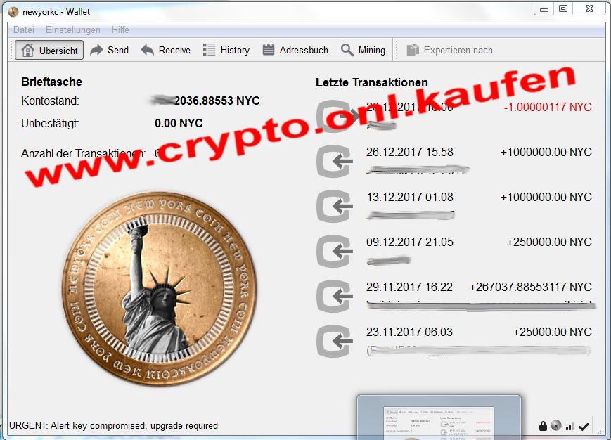 www.crypto.onl.kaufen NewYorkCoin NewYork Coin NYC Kaufen Verkaufen